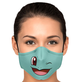 Squirtle Pokémon Premium Carbon Filter Face Mask
