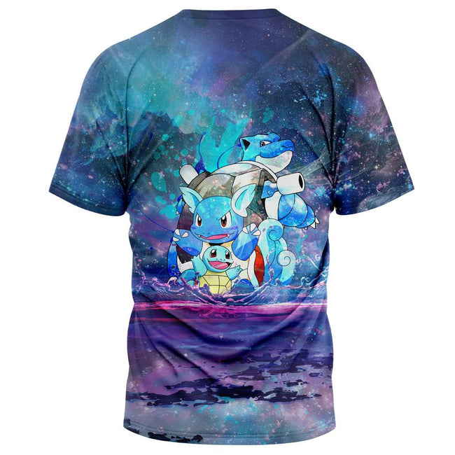 Squirtle Splash Pokemon T-Shirt