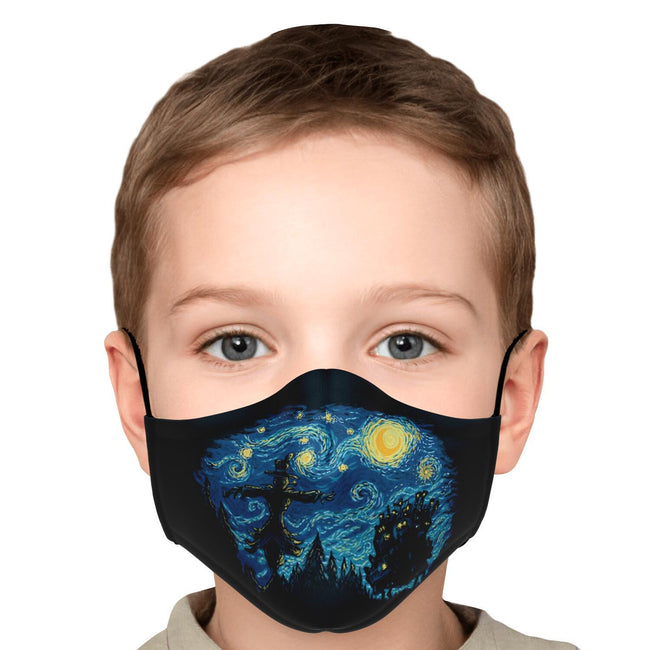 Starry Night Castle Howl's Moving Castle Premium Carbon Filter Face Mask