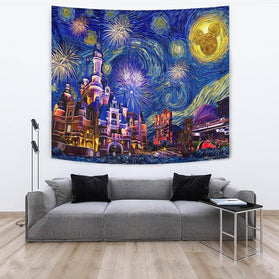 Starry night disneyland Tapestry