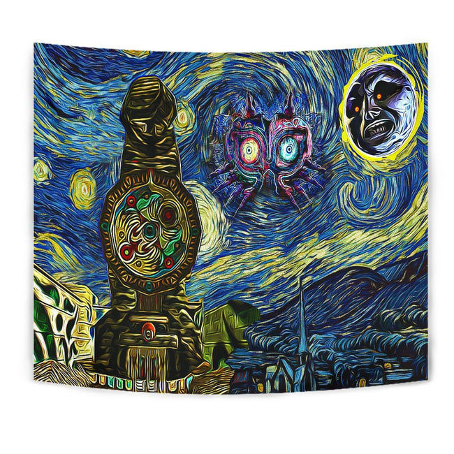 Starry night majora's mask - zelda Tapestry