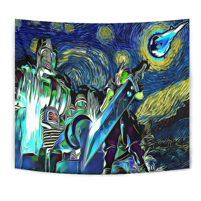 Starry Night Midgar Final fantasy 7 Tapestry