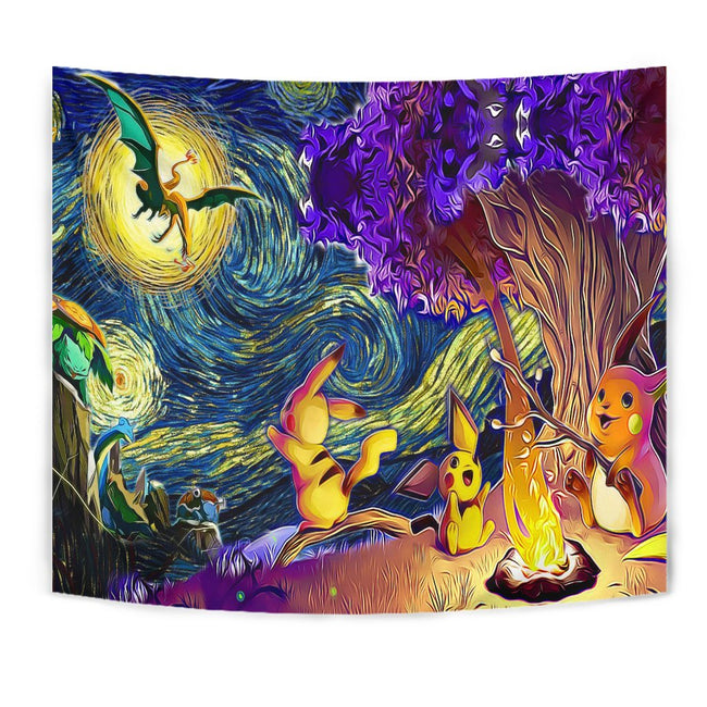 Starry night pokemon Tapestry