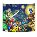 Starry night super smash bros Tapestry