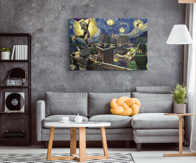 "night of the Dragon  PICTURE CANVAS WALL ART 20/""X30/"""