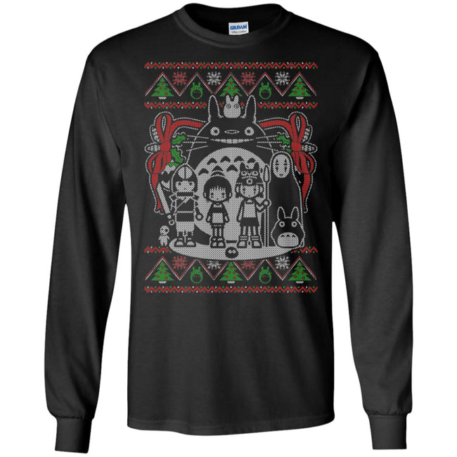 Studio Ghibli Characters Ugly Christmas Sweater
