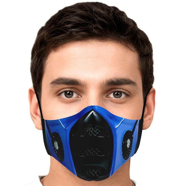 Sub Zero Mask Mortal Kombat Premium Carbon Filter Face Mask
