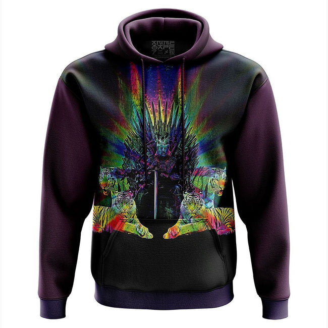 Tiger King Throne Color Hoodie