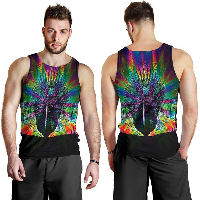 Tiger King Throne Color Premium Tank Top