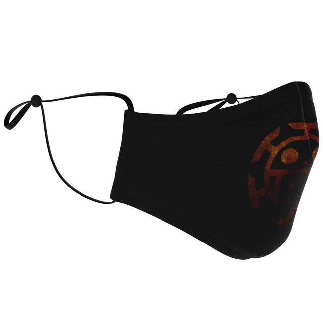 Trafalgar Law Logo One Piece Premium Carbon Filter Face Mask
