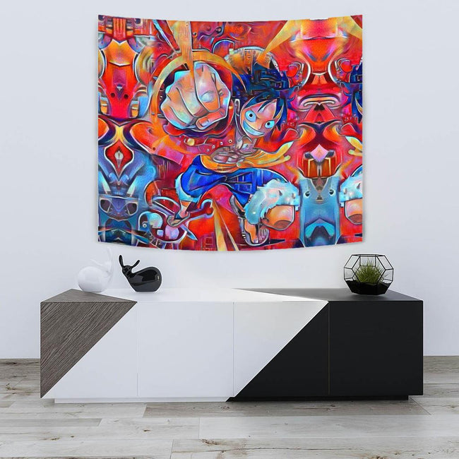 Trippy Luffy One Piece Tapestry