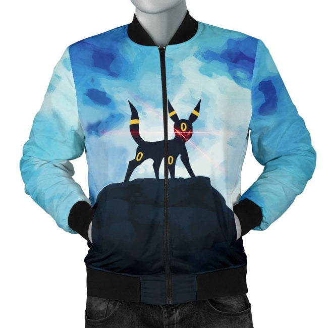 Umbreon on Mountain Pokemon Custom Bomber Jacket