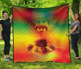 Vibing Battle Tendency Jojo's Bizarre Adventure Premium Quilt Blanket