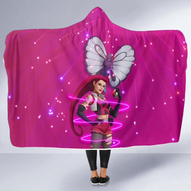 Vibing Jessie Pokemon Hooded Blanket
