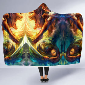 Vibrant Attack on Titan Hooded Blanket