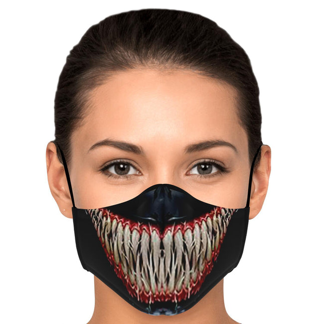 Wide Mouth V1 Venom Premium Carbon Filter Face Mask