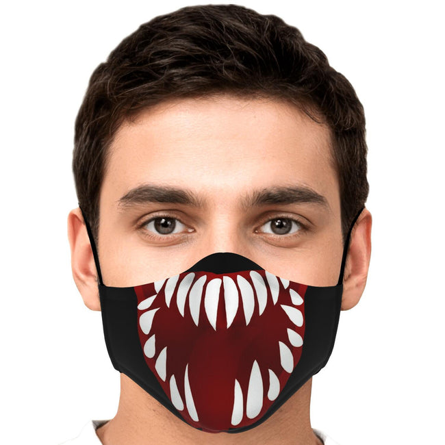 Wide Mouth V2 Venom Premium Carbon Filter Face Mask