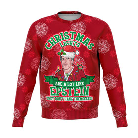 Xmas Lights Are Like Epstein Premium Ugly Christmas Sweater