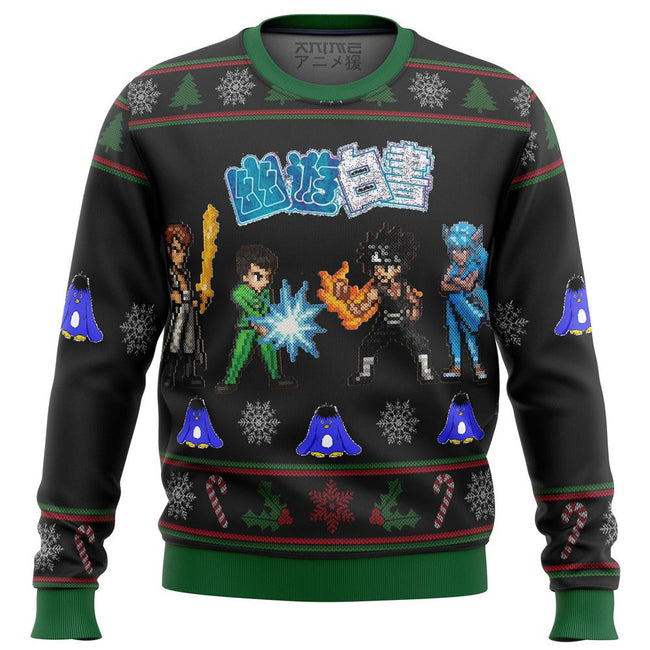 Yu Yu Hakusho Ghost Fighter Sprites Premium Ugly Christmas Sweater