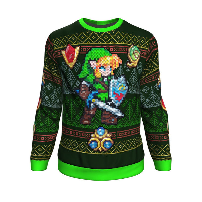 Zelda Link 3D Ugly Christmas Sweater