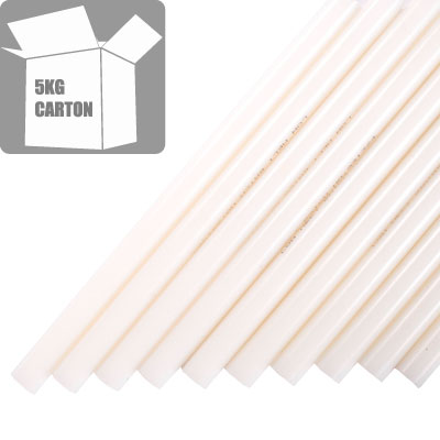 Peelable, White Hot Melt Glue Sticks PEELTEC210-12-200 12mm x 200mm 5kg