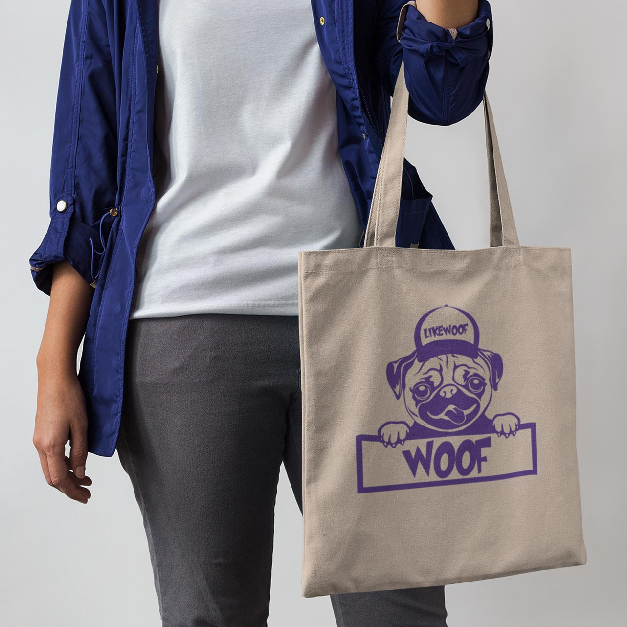 LikeWoof PUG  Shopping Bag - likewoof