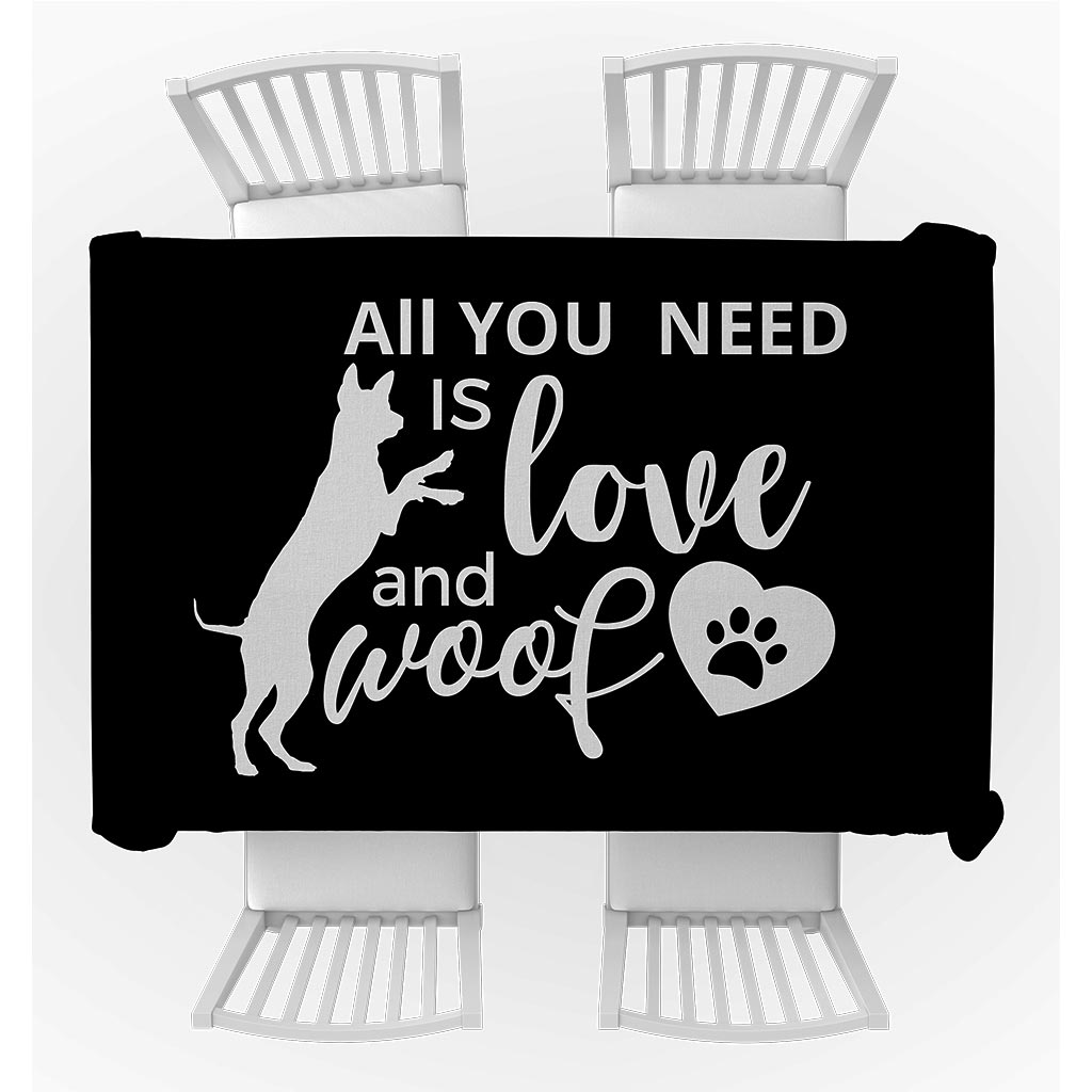 LikeWoof Love & Woof Tablecloth - likewoof