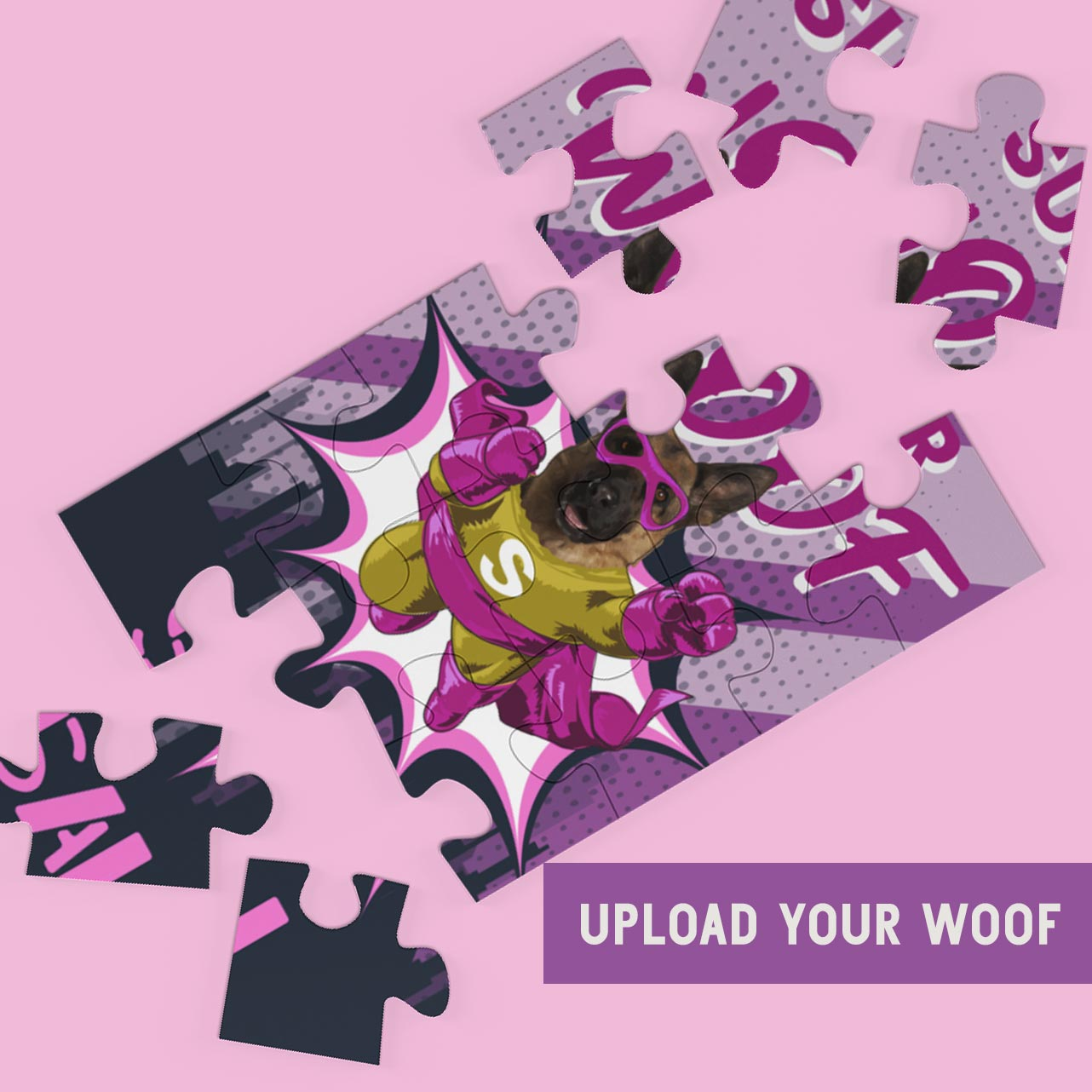LikeWoof SuperWoof DoggyGirl Puzzle - likewoof