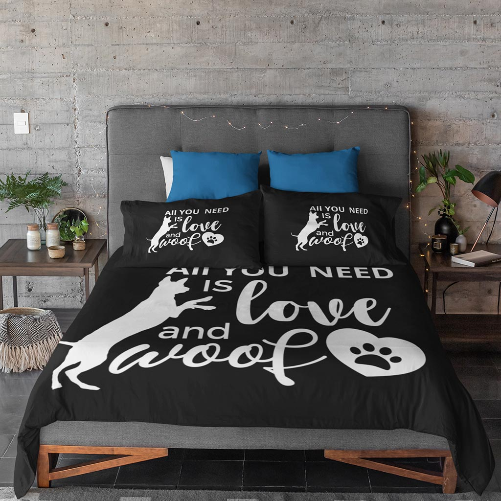 LikeWoof Love & Woof Duvet Cover - likewoof