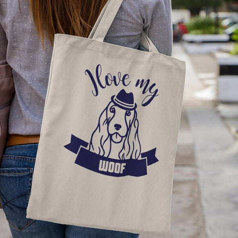 LikeWoof COCKER SPANIEL Shopping Bag - likewoof