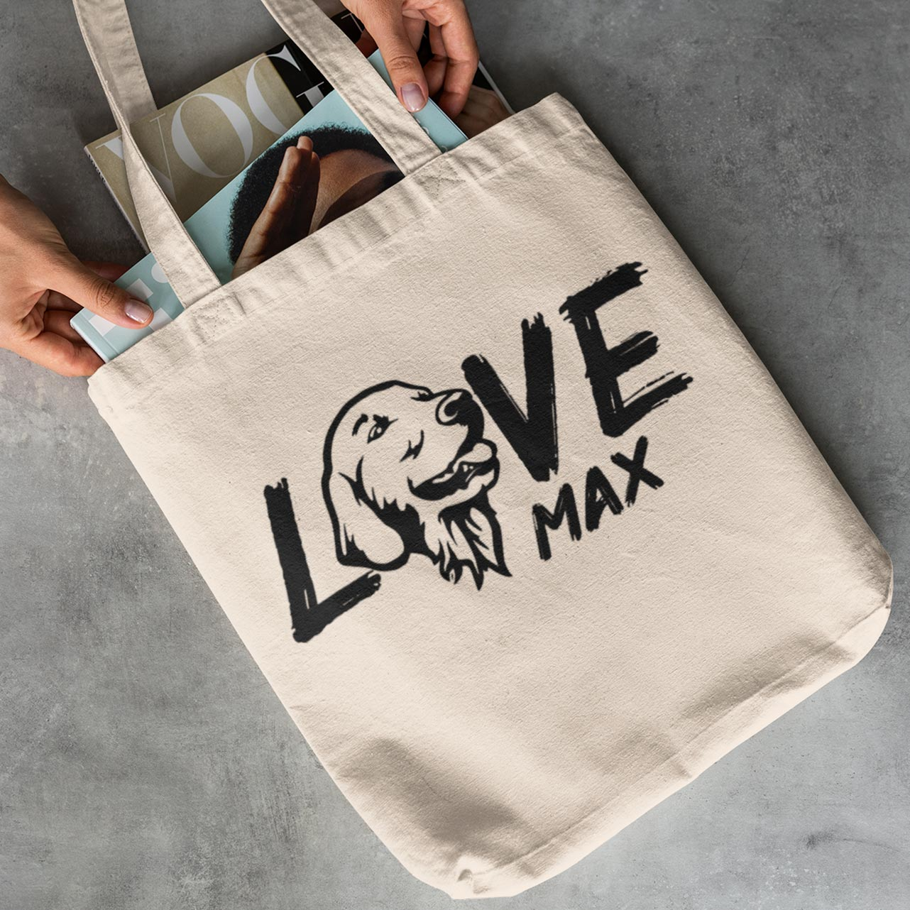LikeWoof GOLDEN RETRIEVER Shopping Bag - likewoof
