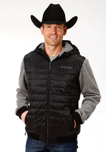 Roper Black Ripstop Poly Filled Jacket