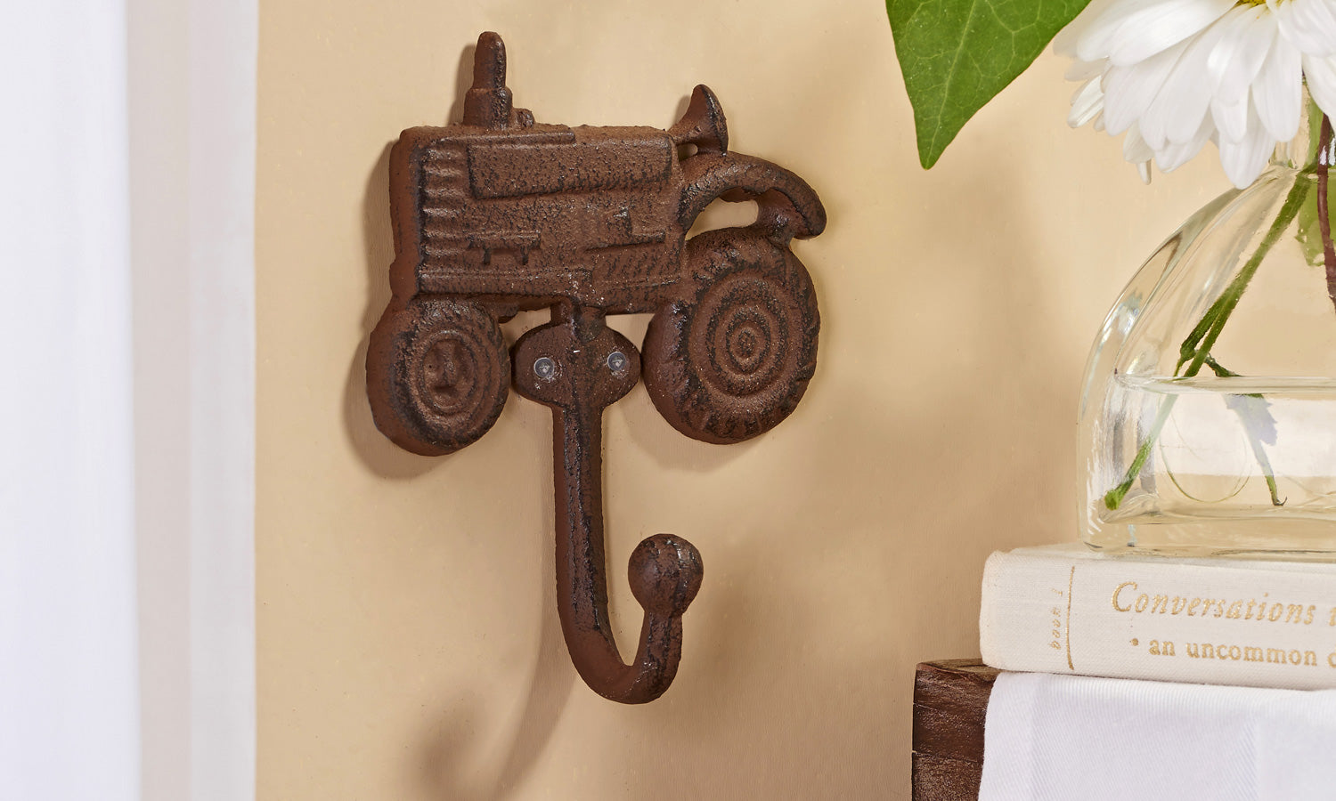 Cast Iron Tractor Wall Hook