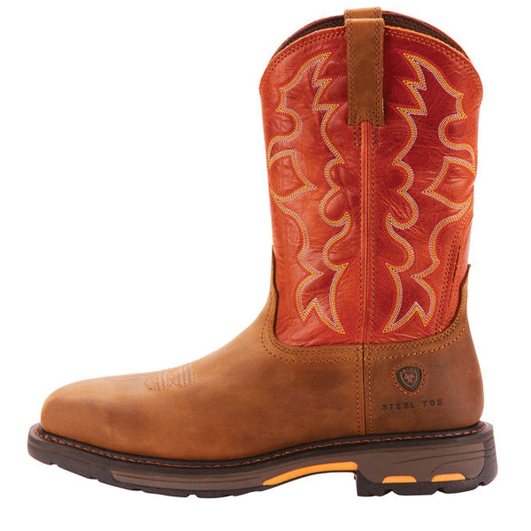Ariat WorkHog Dark Earth Wide Square Steel Toe