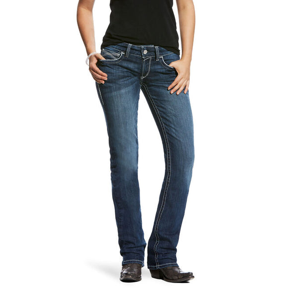 Ariat R.E.A.L. Mid Rise Stretch Ivy Stackable Straight Leg Jean