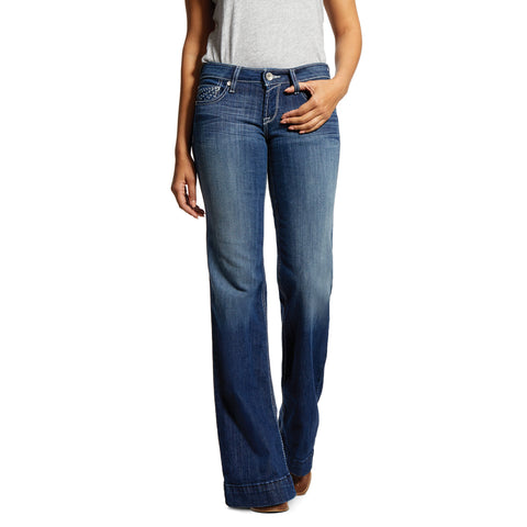 Ariat Trouser Mid Rise Stretch Sunset Wide Leg Jean