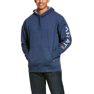 Ariat Rebar Graphic Hoodie Navy Heather