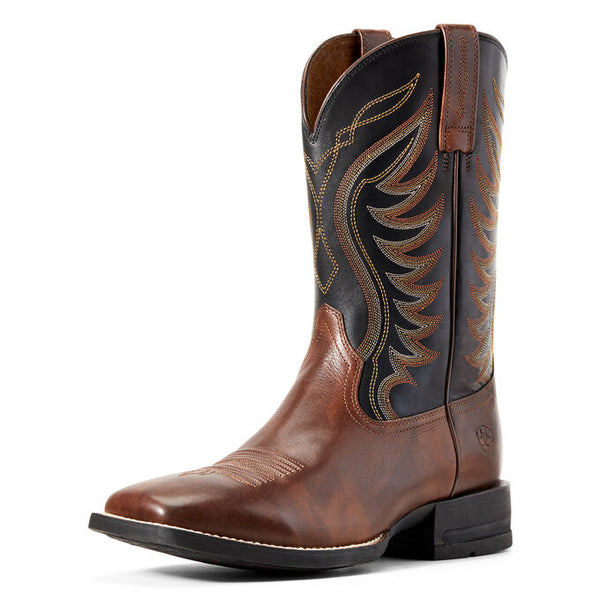 Ariat Hand Stained Red-Brown Amos Western Boot