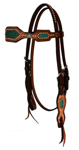 Copper and Turquoise Headstall