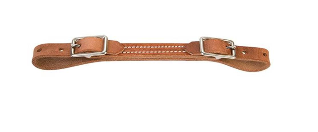 Flat Harness Leather Curb Strap