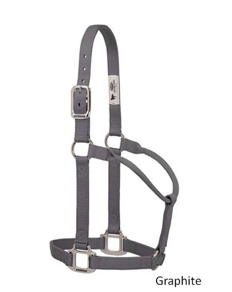 Original Non-Adjustable Nylon Halter with Chrome Plated Hardware