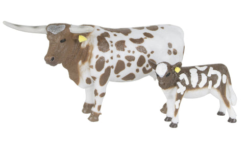 Big Country Toys - Longhorn Cow and Calf
