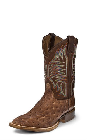 Justin Josiah Dark Brown Full Quill Ostrich