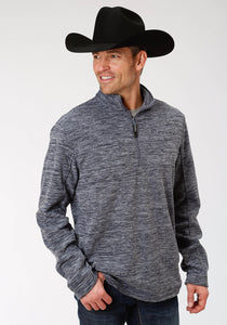 Blue Micro Fleece Pullover Jacket