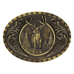 Heritage Outdoor Series Wild Stag Carved Buckle