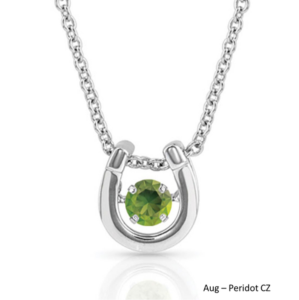 Birthstone Horseshoe Necklace