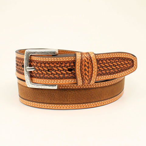 Ariat Medium Brown Distressed Men's Belt