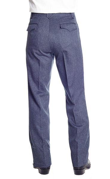 Heather Navy Dress Ranch Pant