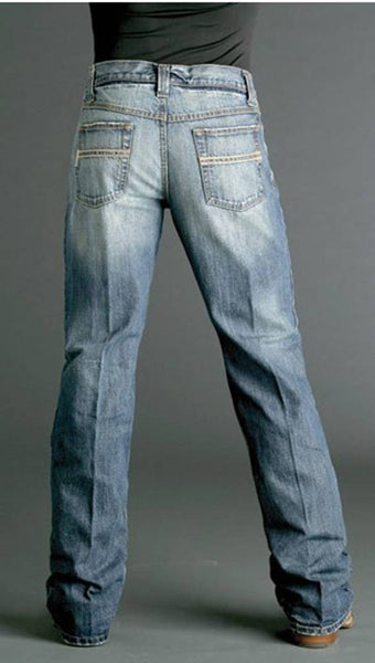 Cinch Men's Relaxed Fit Carter Jeans Medium Stonewash