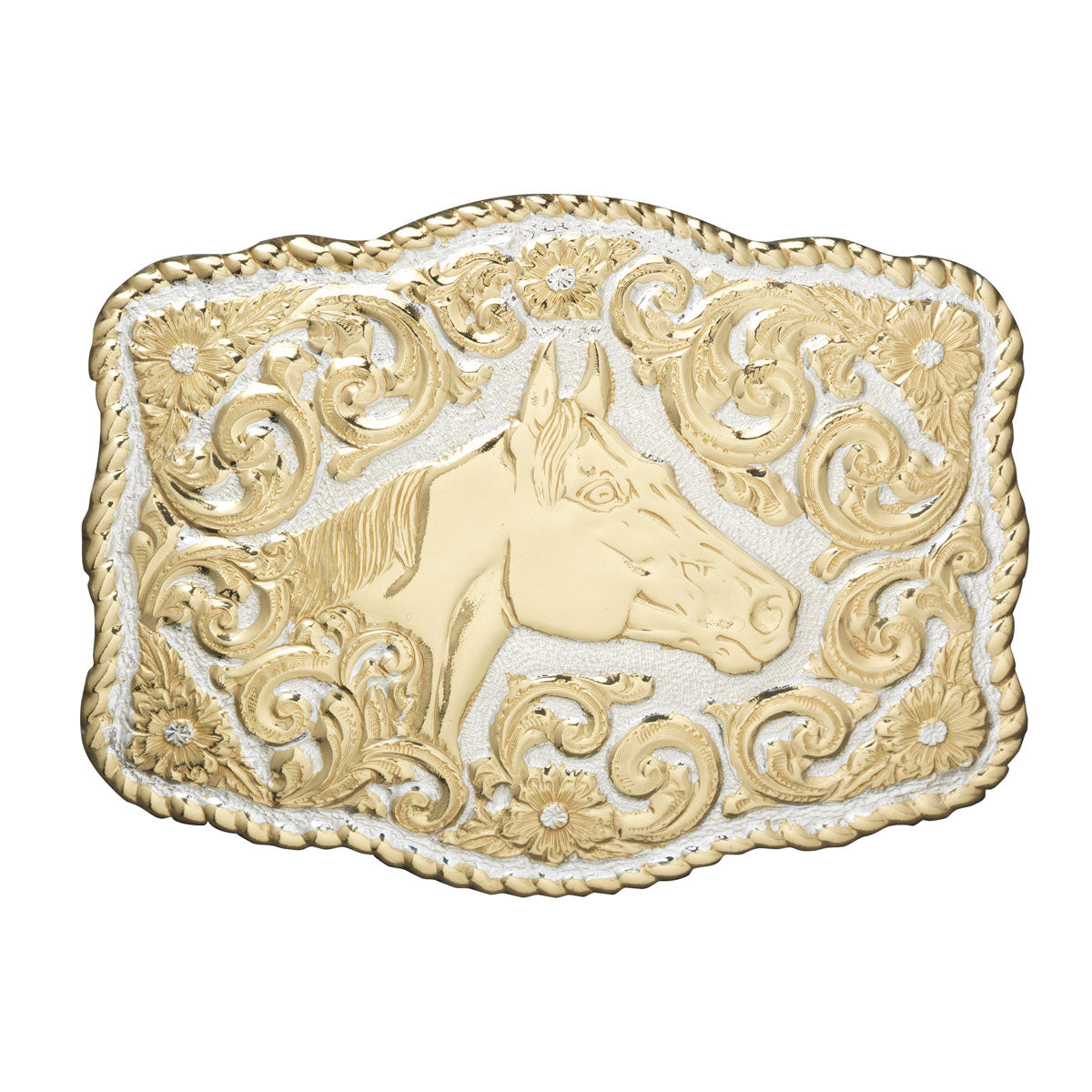 Crumrine Quarter Horse Head Buckle